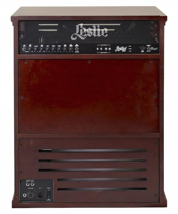 Leslie 3300w Rotary Speaker Cabinet Red Walnut