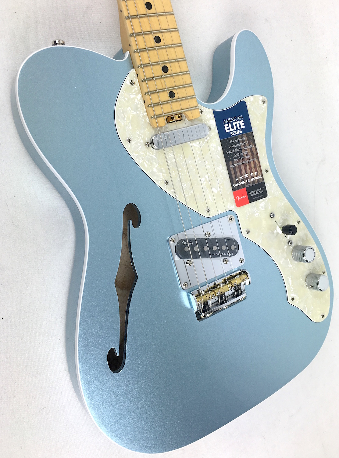 fender american elite telecaster thinline mystic ice blue maple. Black Bedroom Furniture Sets. Home Design Ideas